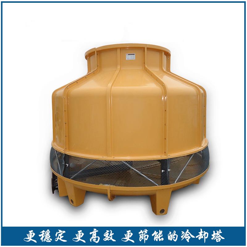 小xing圆形逆liu玻璃钢冷却塔
